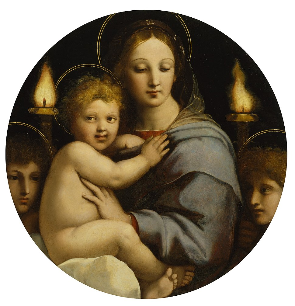 Workshop of Raphael - Madonna of the Candelabra - Walters 37484