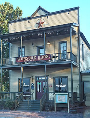 Old Town Spring - Wunsche Bros. Saloon was the first two-story building erected in Old Town Spring. It is still standing today, although not currently open for business after a series of alleged paranormal disturbances.