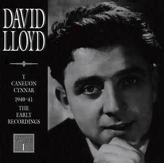 David Lloyd (tenor) - Image: Y Caneuon Cynnar (1940 41), album cover