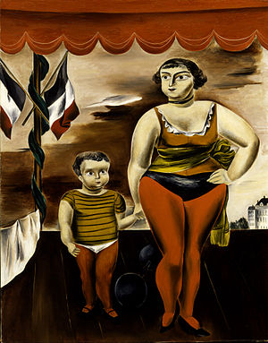 Yasuo Kuniyoshi - Strong Woman and Child (1925), Smithsonian American Art Museum