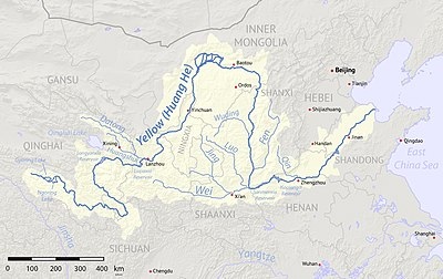 Along The Yellow River Travel Guide At Wikivoyage - Yellow river on world map