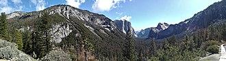 Tunnel View - Image: Yosemite Nationalpark Tunnel View IMG 20180412 104722