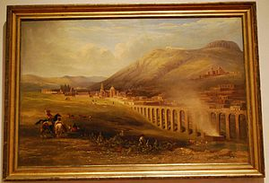Daniel Thomas Egerton - The aqueduct of Zacatecas, 1838, now in the Franz Mayer Museum