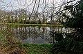 Zeist - English Park bij Slot Zeist 1831 by Jan David Zocher jr. - Slot Zeist (1677-1686) by Jacobus Roman 17 - Beeld 'Europa en Afrika' van Albert Xavery in de vijver van Slot Zeist.jpg