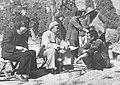 Zhu De couple talking with peasants in Changping County, Beijing.jpg