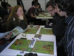 Zooloretto - A game of Zooloretto at Essen 2007