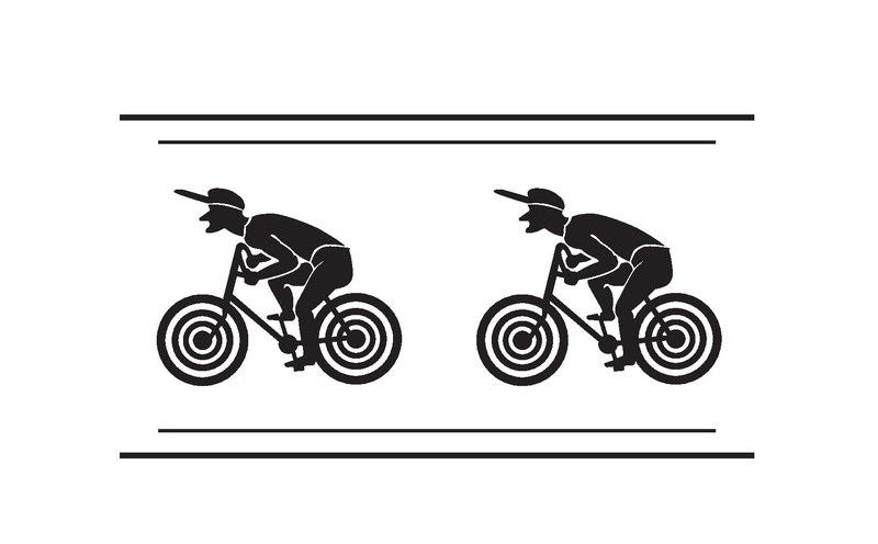Zwei Radfahrer, Klischee (Druck)