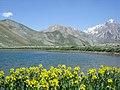 """Aseman kuh"" mount view from ""Kahrizak Dare"" lake, Lar, Alborz mountain آسمانکوه وکوههای قلعه نو ازدریاچه کِهریزک دره لار - panoramio.jpg"