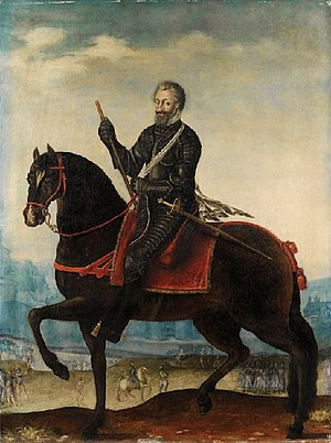 "Marin le Bourgeoys - ""Equestrian Portrait of Henri IV in armor in Front of a City"" by Marin Le Bourgeoys"