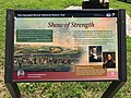 """""""Show of Strength"""" sign, Star-Spangled Banner National Historic Trail, Patterson Park near E. Pratt Street and S. Patterson Park Avenue, Baltimore, MD 21231 (40576562530).jpg"""