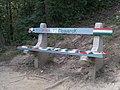 'HunHajráMagyarok' bench, 2020 Salgótarján.jpg