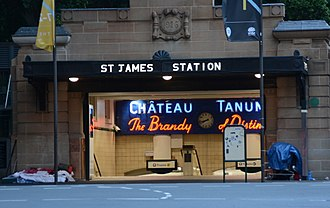 Railways in Sydney - Entrance to the heritage-listed underground St James railway station, located on the City Circle line which serves the CBD.