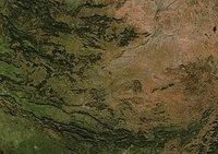 (Provincia de Ciudad Real) Castilla-La Mancha NASA (cropped).jpg