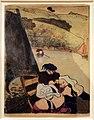 Émile bernard, bretoni su un traghetto, zincografia con guache, 1889.jpg