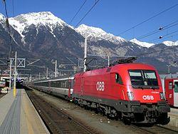 Spoorvervoer in innsbruck