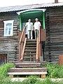 Братья Кузины Зотик и Георгий на крыльце дома (крыльцо типично для северных поморских домов).jpg