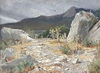 Mountain path. Crimea