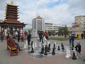 Kalmykia - Elista, the capital of Kalmykia, 9 May 2015