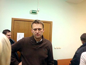 Alexei Navalny - Navalny at the courthouse, December 6, 2011