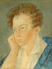 Портрет Пушкина (Акварель С. Г. Чирикова, 1810); Центральный музей А. С. Пушкина, Санкт-Петербург