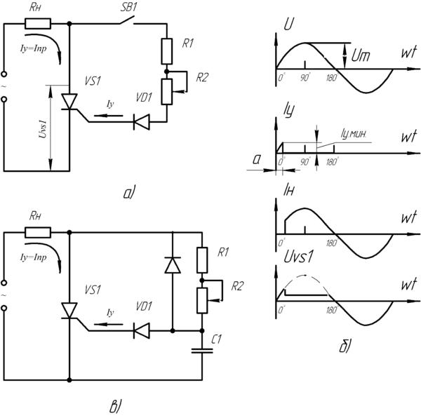 Схемы устройств фазового