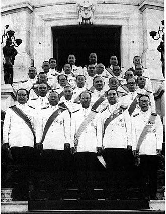 Pote Sarasin - Pote Sarasin (first row-center)