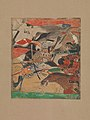 「六波羅合戦」 平治物語絵巻 断簡-Battle at Rokuhara, from The Tale of the Heiji Rebellion (Heiji monogatari) MET DP361153.jpg