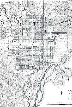 Sapporo - Sapporo city map in 1891