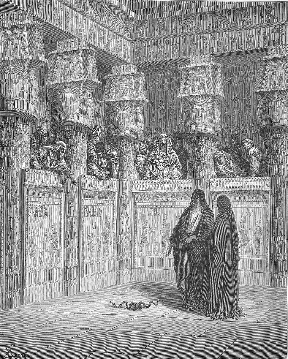 032.Moses and Aaron Appear before Pharaoh