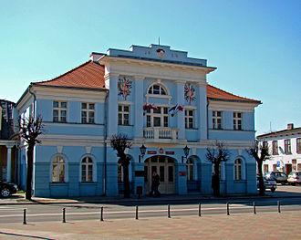 Aleksandrów Łódzki - Neo-classical town hall built in 1824
