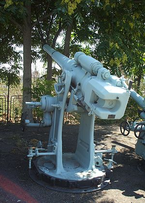 Deck gun - Bofors 102 mm/4-inch naval gun from the Romanian submarine Delfinul