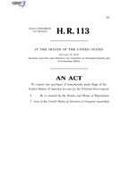 116th United States Congress H. R. 0000113 (1st session) - All-American Flag Act C - Referred in Senate.pdf