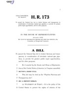 116th United States Congress H. R. 0000173 (1st session) - Pipeline Fairness and Transparency Act.pdf