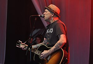 The Ataris - Kris Roe performing at an acoustic session at Groezrock 2013