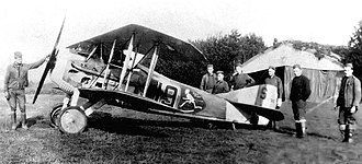 13th Aero Squadron - 13th Aero Squadron - SPAD XIII assigned to Major Charles Biddle, likely taken at Souilly Airdrome, France, 1918