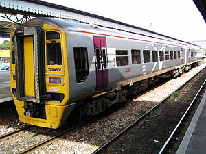 Wessex Trains - Image: 158869 at Truro