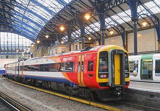 South Western Railway (train operating company) - Image: 158890 Brighton