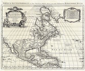 Queen Anne's War - 1700 map by Guillaume De L'Isle of North America, reissued by Covens and Mortier in 1708