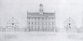 1819 Elevation of the County Buildings on Leverett St Boston byThomasWSumner SPNEA.png