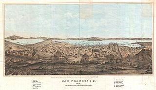 1856 Henry Bill Map and View of San Francisco, California - Geographicus - SanFrancisco-bill-1858