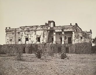 Siege of Delhi - Hindu Rao's house in Delhi, now a hospital, was extensively damaged in the fighting.