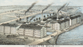 1876 mills detail from View of the City of New Bedford, Mass by O H Bailey and Co BPL 10177.png