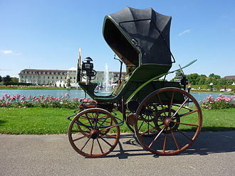 History of the automobile - German Flocken Elektrowagen of 1888, regarded as the first electric car of the world