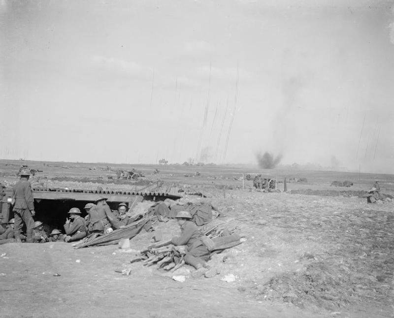 18pdrsUnderFireBattleofArras24April1917