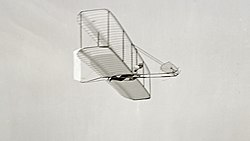 Wright Glider im Flug, Kitty Hawk 10. Oktober 1902