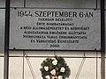 1944-09-06 bombatámadás táblája, vasútállomás, 2017 Nyíregyháza.jpg