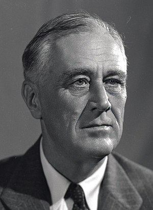 United States presidential election, 1944 - Image: 1944 portrait of FDR (1)(small)