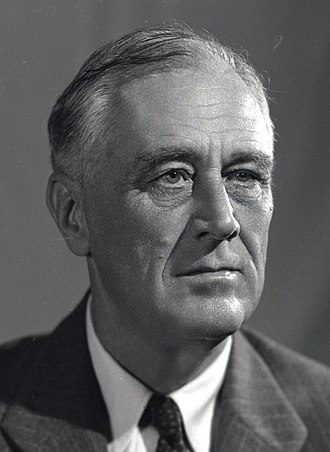 1944 United States presidential election - Image: 1944 portrait of FDR (1)(small)
