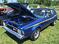 1973 AMC Gremlin X package in blue with gold at AMO 2015 meet 3of8.jpg