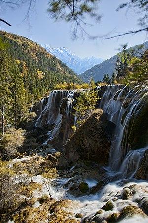 Pearl Shoal Waterfall - Image: 1 jiuzhaigou valley pearl shoals waterfall 2011